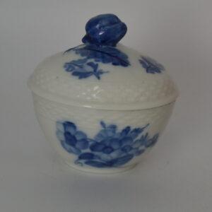 blå blomst sukkerskål